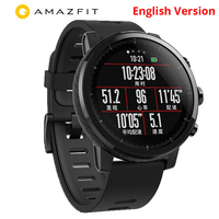 Xiaomi Huami Amazfit Stratos 2 English Version Smart Watch With GPS PPG Heart Rate Monitor 5ATM Waterproof Sports Smartwatch