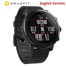 Купон $6 Xiaomi Huami Amazfit Stratos 2 Английская версия Смарт часы с gps PPG монитор сердечного ритма 5ATM Водонепроницаемый спортивные Smartwatch