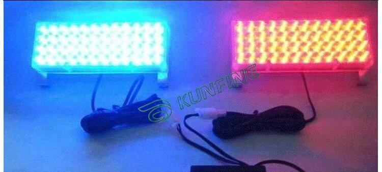 2 в 1 светодиод вспышки света автомобиля Сид предупредительный световой сигнал Сид проблескового света 96 светодиодов с блоком управления КФ-L3071