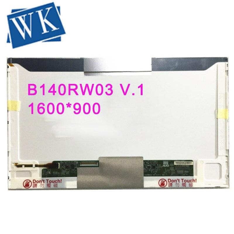 Livraison gratuite B140RW03 V.1 B140RW03 V1 B140RW01 V.0 LTN140KT04 LP140WD1-TLA1 pour DELL 1458 E5420 écran lcd d'ordinateur portable D'affichage