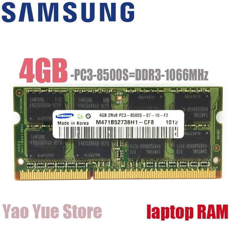 Samsung 4GB 4G 2RX8 10600S 12800S 8500S DDR3 1333 1600 1066 1333MHZ 1600MHZ Module ECC Laptop Notebook memory RAM 4gbx2=16gb