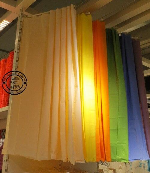 Ba o ikea ducha cortina azul verde amarillo p rpura blanco - Cortinas de ducha ikea ...