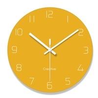 Glass Digital Clock Decorative Wall Clocks for Living Room Silent Quartz Arabic Number Hanging Clock Modern Design Home Decor