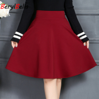 Sexy School Girls Pleated Skirts 2018 Summer Women Skirt Vintage High Waist Midi Office Workwear Flared Tutu Saias Femininash