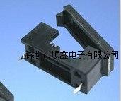 5 * 20MM Copper Foot Fuse Holder PCB Welding Together -A Type Crisper Black Fuse Holder
