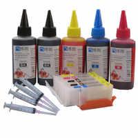 Cartucho de tinta recarregáveis para canon pixma pgi-570 mg5750 mg5751 mg5752 mg5753 mg6850 mg6851 mg6852 mg6853 + 5 color dye ink 500 ml