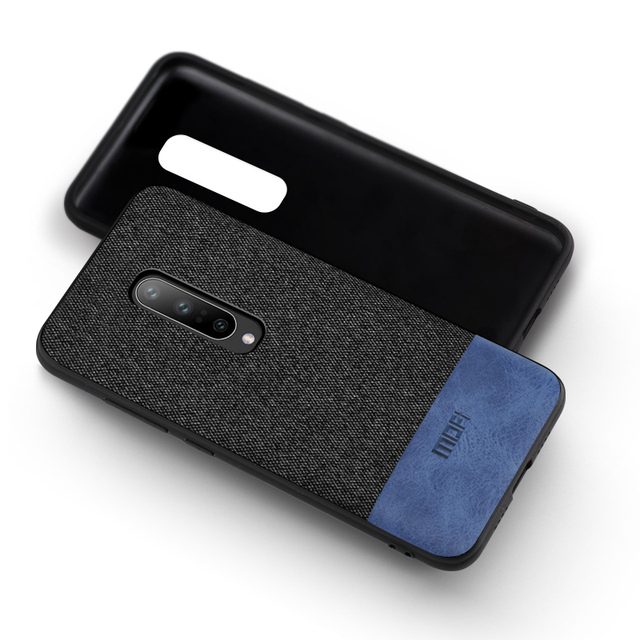 For oneplus 7 pro case cover shockproof back cover fabric cloth one plus 7 protective silicone capas MOFi original 1+7 cases