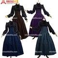 Superior de La Venta de La Vendimia Gótico Victoriano Steampunk Skirt Alta Cintura Largo Caminar Falda Delgada Negro/Azul/Marrón/Púrpura más Tamaño