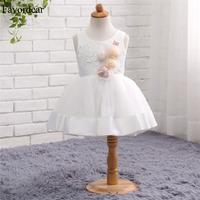 Favordear Kids Pageant   Dress   Fast Shipping Ball Gown Short White Ivory   Flower     Girl     Dress