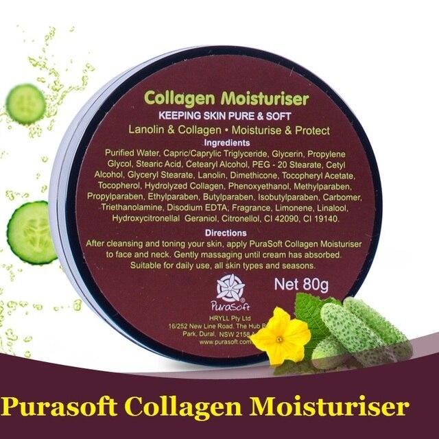 Pure Australia Purasoft Collagen Lanolin Moisturizing Cream, enjoy pure soft skin, firmness, hydrates refreshes & revitalises
