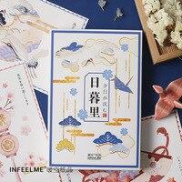 30 arkuszy/zestaw japoński Nippori ręcznie malowanie pocztówka kartkę z życzeniami biznes karty prezent karty wiadomość