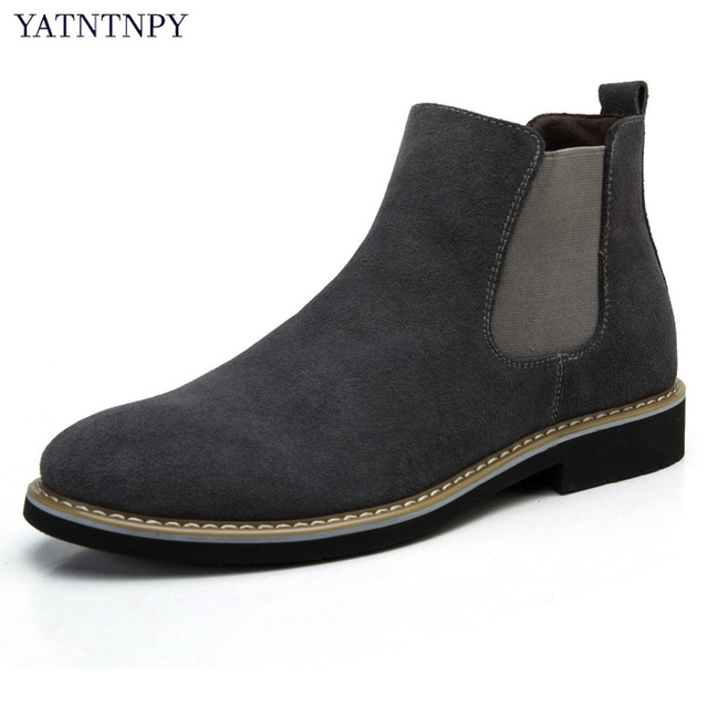 US  51.49  YATNTNPY Hohe Qualität männer Kurze stiefel bequeme Wildleder  Chelsea stiefel, stilvolle Slip on Winter Oxfords unisex stiefel in ... 644c4afec6