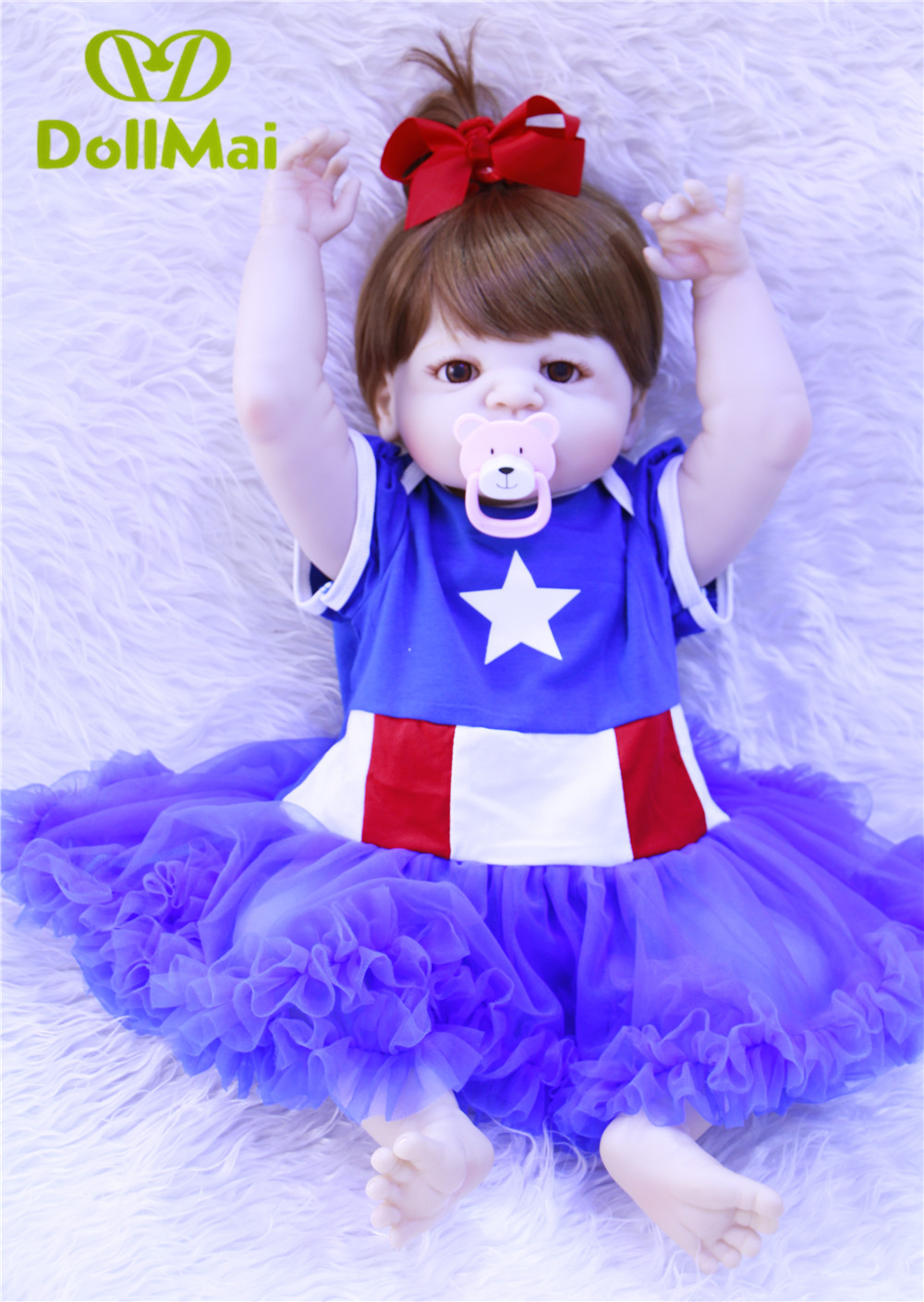 Bebes reborn poupée silicone reborn reborn bébé poupées lol poupée brinquedos boneca reborn cadeau de noël pour fille anniversaire DOLLMAI