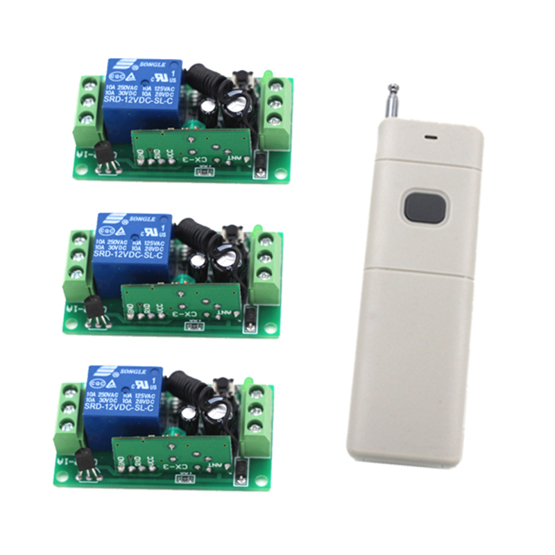 Wholesale DC 12V 10A 1CH wireless RF Remote Control Switch 1 Transmitter+ 3 Receiver Free Shipping 4047 next move british english level 1 teacher s book pack
