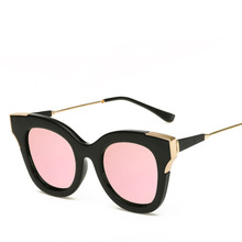 Classic female luxury brand designer cat's eye double color gradient polarized lens polarized sunglasses sunglasses driving