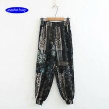 2019 linen pants femmes large jambe  pantalon femme coupe largeharem trousers women coton lin travail Long Pantalon Harem