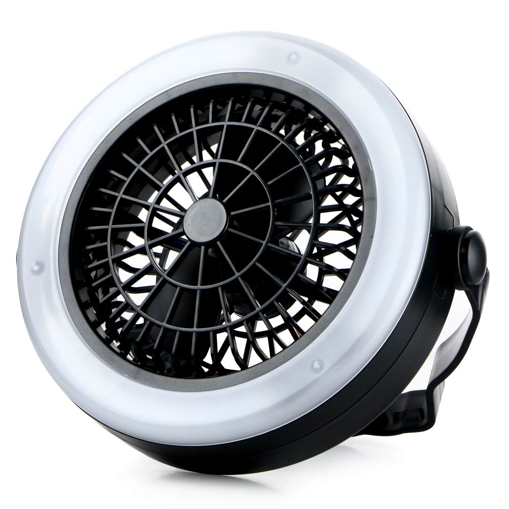 Portable Rechargeable LED Fan Light Mini Air Cooler Outdoor Camping Tent Lamp Hanging Ho ...