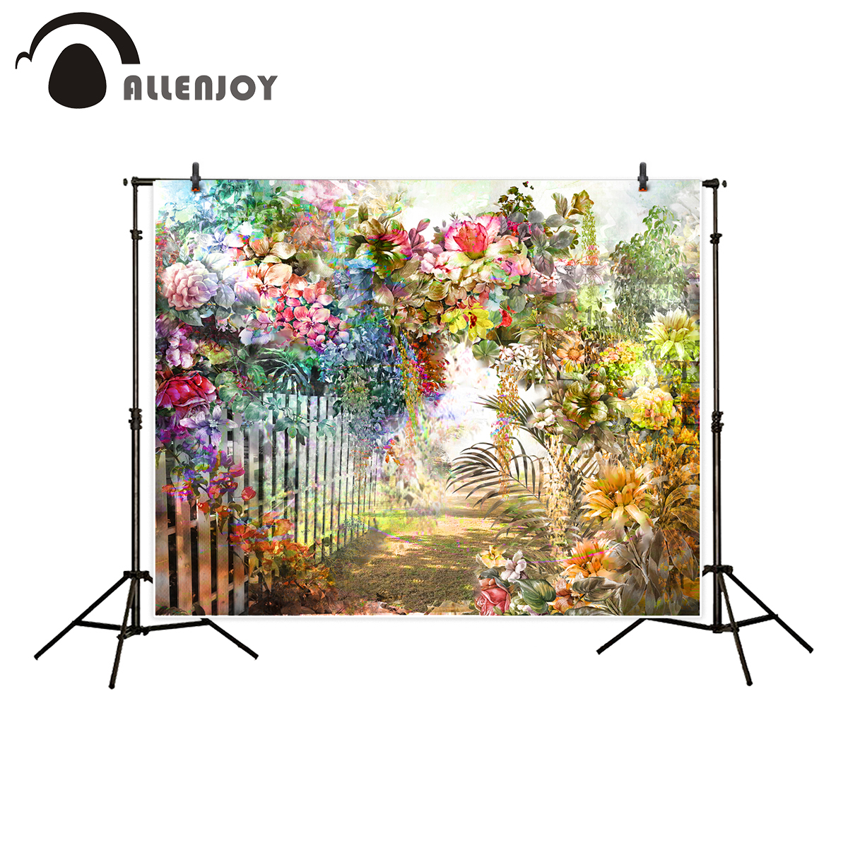 Allenjoy photography backdrop flower garden painting colorful retro background photo studio new photocall photobooth allenjoy photography backdrop library books student child newborn photo studio photocall background original design