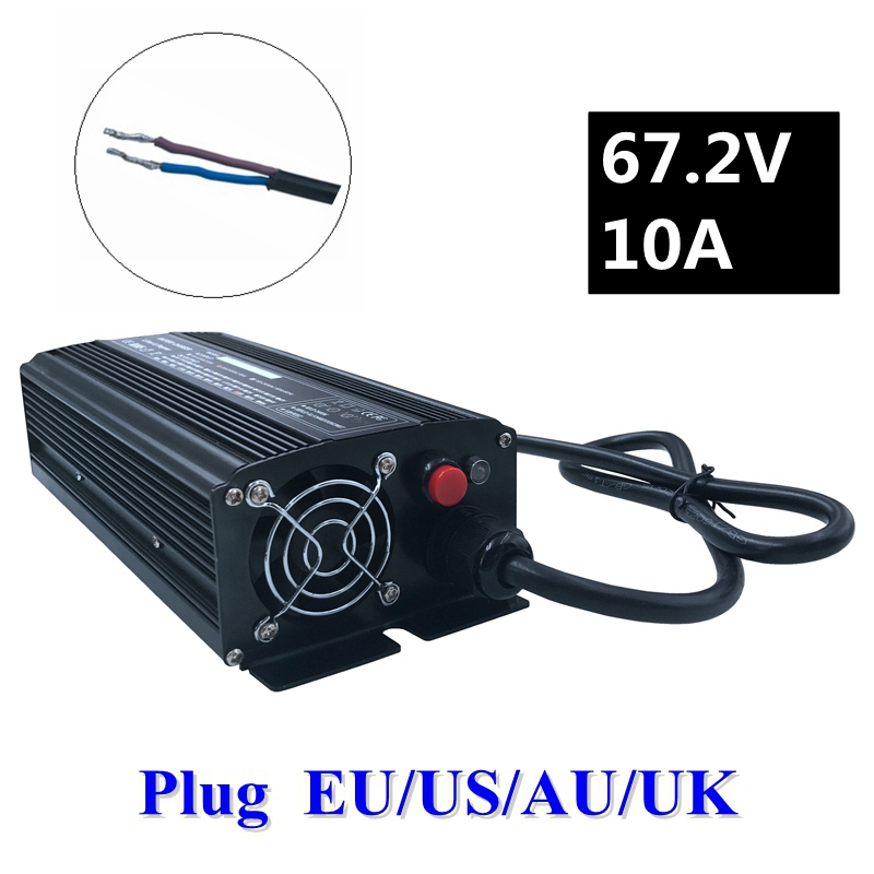 цена на 672W 67.2V 10A Charger 60V Li-ion Battery Smart Charger Used for 16S 60V Lithium Li-ion e bike bicycle electric bike battery