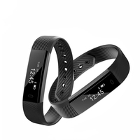 ID115 Smart Bracelet Sport Pedometer Fitness Tracker Sleep Monitor Wristband Bluetooth 4 0 Smartband For IOS