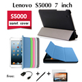 Para lenovo s5000 ultrafinos caso de dormência coldre lenovo tablet sabedoria 7 polegadas de apoio conjunto de trinta por cento Livre 3 presentes