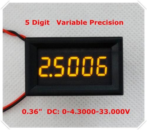 """RD 4 провода 0,3"""" точность переменной постоянного тока 0-33 в цифровой вольтметр напряжение Панель метр светодиодный дисплей Цвет [4 шт./лот] - Цвет: YELLOW"""