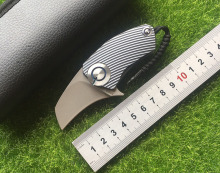 Parrot ball bearing S35VN blade Titanium Handle folding Hunting pocket outdoor camping knife knives EDC tool