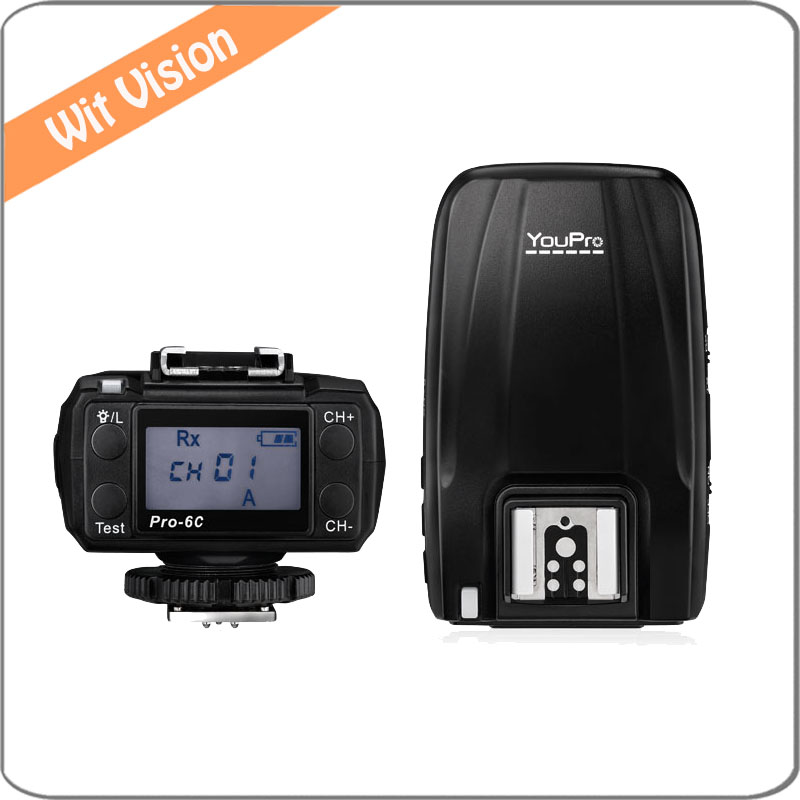 Pro-6C transceiver Wireless I-TTL For for Canon 40D 50D 60D 450D 500D 550D 600D 650D 1000D 1100D