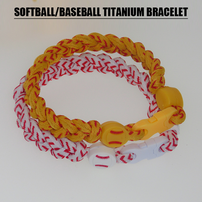 2019 softball baseball braided titanium bracelet for sports 20 piece free DHL