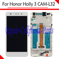 New White Full LCD DIsplay + Touch Screen Digitizer + Frame Cover Assembly For Huawei Honor Holly 3 CAM L32 Free Shipping