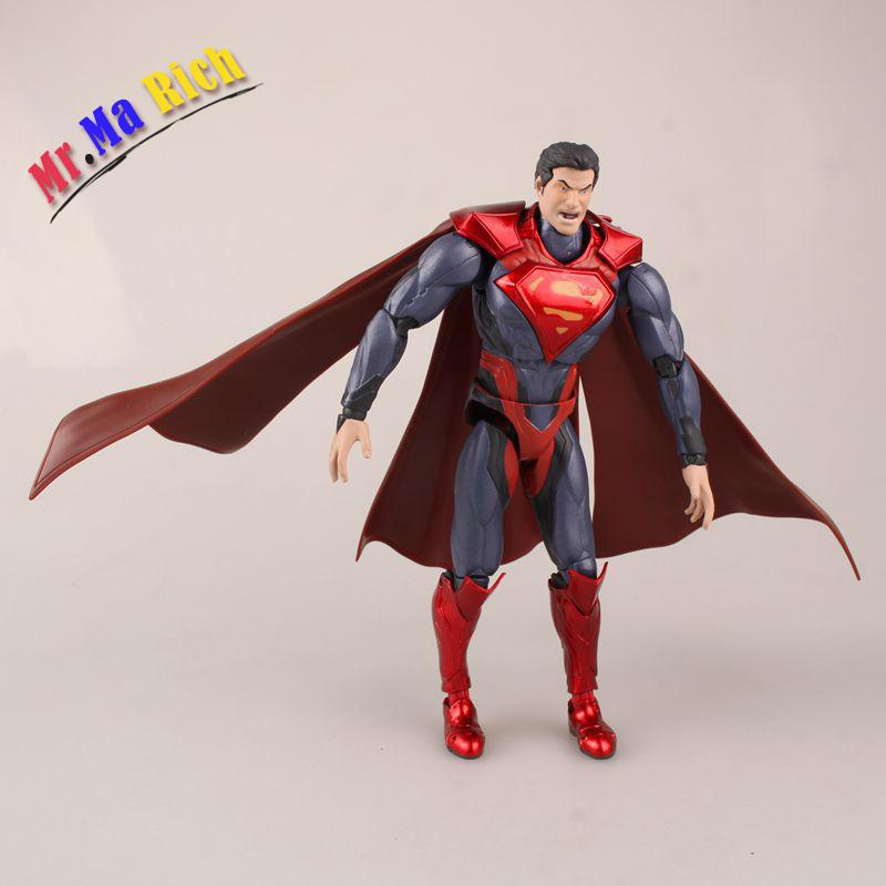 Anime Shfiguarts Superman Shf Figuarts In Justice Ver Pvc Action Figure Collectible Model Kids Toys Doll 16cm cmt cmt datong super mario shf action figure toy sh figuarts mario model with accessories set action figure