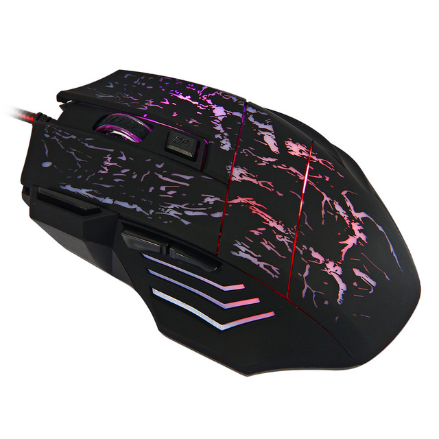 e18ffba36f5 HXSJ A874 7 Buttons USB Wired Optical Game Gaming Mouse 1000 / 1600 / 2400  / 3200DPI with LED Light Computer Mouses for PC Game