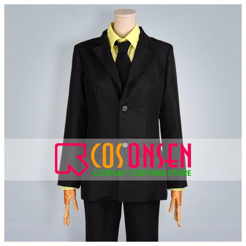 COSPLAYONSEN Kuroko's Basketball Ryota Kise Black Suit Cosplay Costume All Size