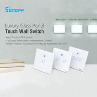 Itead Sonoff T1 Smart WiFi RF APP Touch Control Wall Light Switch 1 2 3 Gang