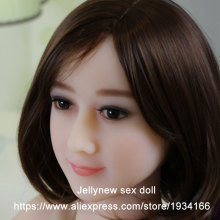 solid silicone doll head in Sex Dolls,sexy lips,tongue,round face,oral depth 13cm,Fit body:153,156,158,160,161,163,165,168cm