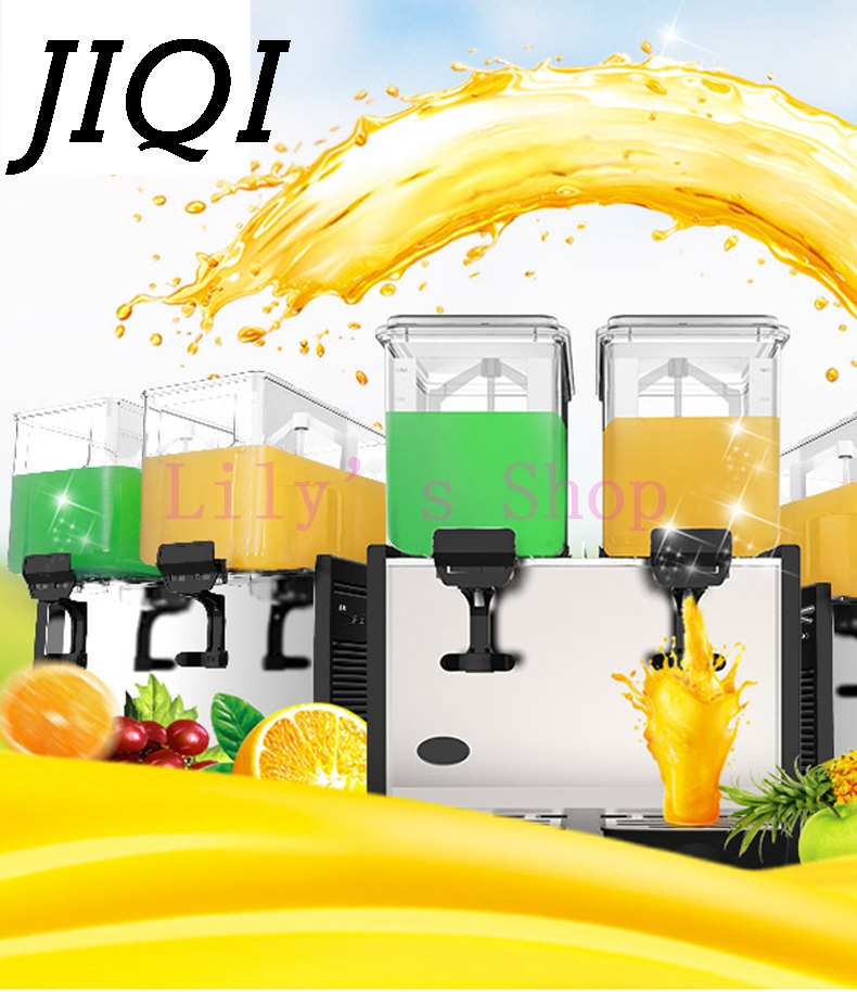 commercial hot cold drink slush machine Two Tank fruit juice dispenser beverage machine EU US plug Self-help restaurant Tea shop
