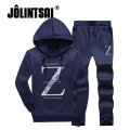Jolintsai 2017 Moleton Masculino Mens Hoodies Pant Print Tracksuit Men Letter Print Casual Fashion Sweatershirts Set 4XL