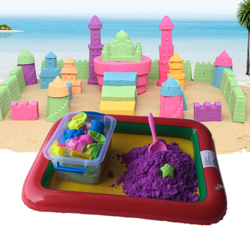 500g/Bag Hot Sell Multi Color Space Sand Colored Clay Sand Childrens Toys Colorful Non-toxic Plasticine Modeling Play Dough