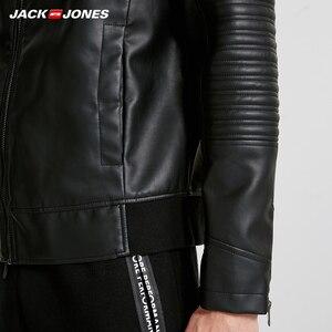 Image 4 - JackJones ผู้ชาย Hooded PU เสื้อหนัง Slim fit Casual Coat Outerwear Biker Hoodies บุรุษ 218321558