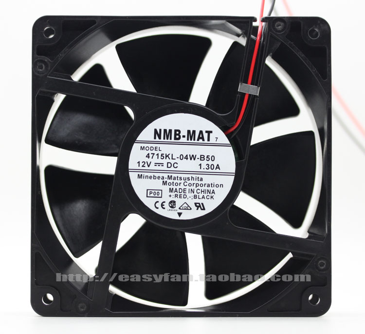 NMB-MAT  4715KL-04W-B50 P00 DC 12V 1.30A    120x120x38mm Server Square fan nmb mat 3110kl 04w b49 b02 b01 dc 12v 0 26a 3 wire server square fan