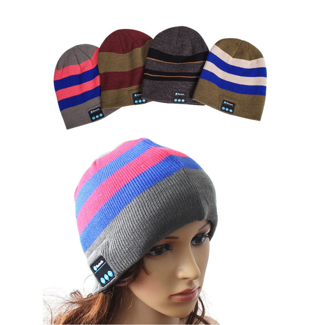 hat Smart Caps Headset earphone Warm Beanies winter Hat with Speaker Mic for sports Wireless Bluetooth headphones Music