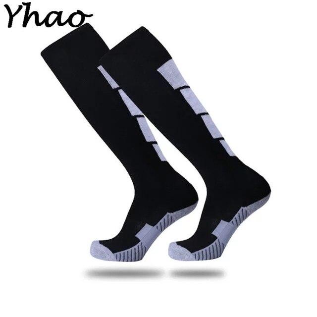 f2af44639 High Quality Yhao Anti-slip Soccer Socks Men Women Cotton Absorb Sweat Long Football  Socks Sports Knee Tube Sox 11 Colors