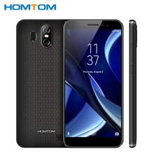 Original HOMTOM S16 Mobile Phone 5.5 inch 2GB RAM 16GB MT6580 Quad Core Android7.0 Dual Cameras 3000mAh Fingerprint Smartphone