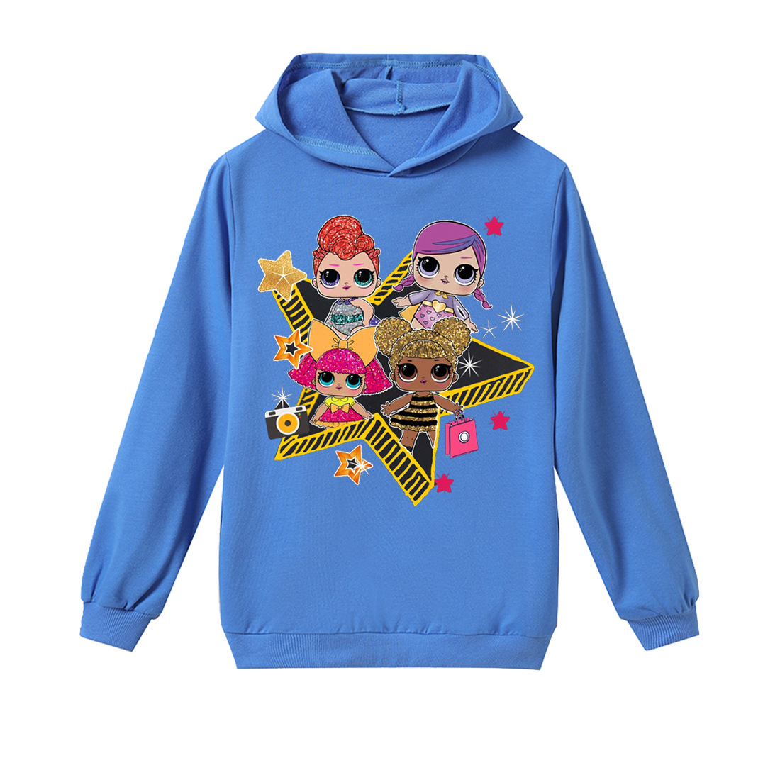 b2a1a5e50 New hoodie LOL surprise doll children clothing autumn and winter baby girl  lolirock Tshirt 100% cotton Kids cartoon Sweatshirts-in Hoodies &  Sweatshirts ...