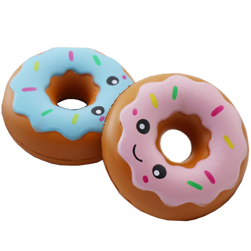 kawaii Doughnut Cream Scented Squishy donut Slow Rising Squeeze anti stress soft toy funny bread cute Children's toys christmas(China)