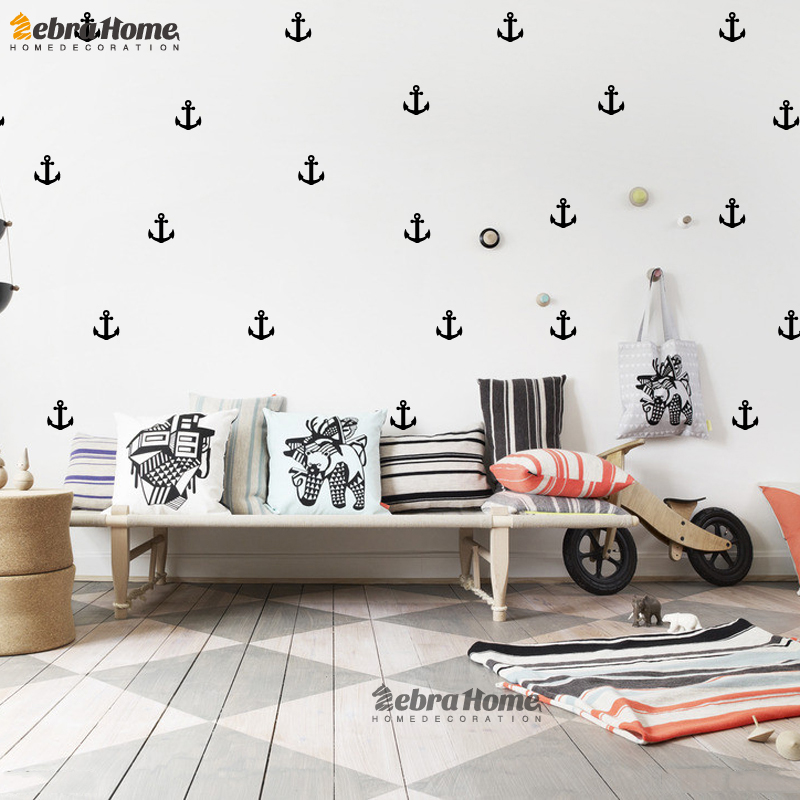 Home Decor Mural Art Wall Paper Stickers ~ Little anchor wall sticker diy baby nursery rooms home