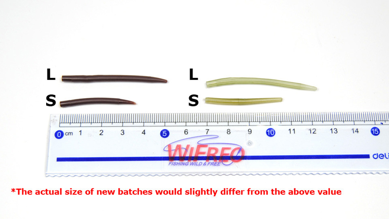 [20pcs/pack] Soft Rubber Cone Sleeve for Carp Fishing Rig Making Terminal Tackle Green Brown Color [LYPJ-006]