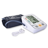Upper Arm Blood Pressure Monitor Medical Equipment USB Electronic Automatic Digital Heart Rate Monitor Meter Sphygmomanometer