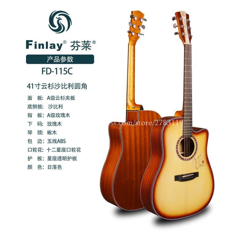 41 Acoustic Guitar,Cutaway Spruce Top/Mahogany Body guitarra,Sunset,Customizable Constellation Pickguard,Big sale in stock 2018 china factory hot 41 guitar pickguard hummingbird acoustic guitar pickguard 2mm thickness free shipping