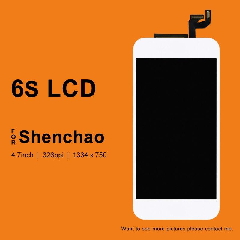 imágenes para 10 unids Para ShenChao Calidad 6 S Reemplazo Pantalla LCD de Montaje Con Pantalla Táctil 3D Sin Píxeles Muertos + Cámara titular